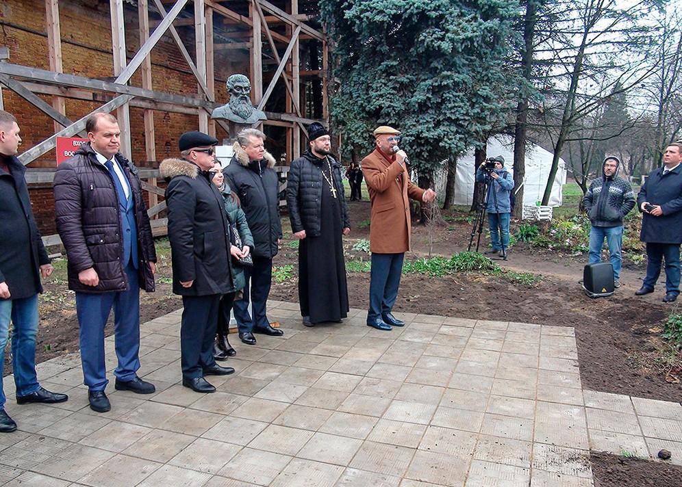 Открытие памятнику князю Дм. Трубецкому в усадьбе Гребнево