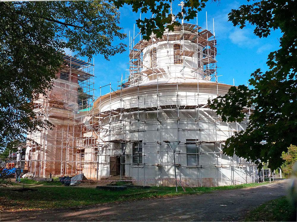 Восстановление Знаменского храма с. Ивановского Волоколамского района